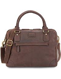 LEABAGS Dijon sac cabas rétro-vintage en véritable cuir de buffle