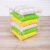 Amilian® Baby Nestchen Bettumrandung 210 cm Design34 Bettnestchen Kantenschutz Kopfschutz für Babybett Bettausstattung