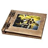 50 Blatt Holzbuch Hochzeit Ringe gelber glänzender Hintergrund
