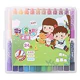 Wasserlösliche gemalte Stick, 24 Farbe rotierende Buntstifte, waschbar Palm-Griff Zeichnung Wachs Spielzeug Geschenk Regenbogen Farbe für Kinder, Jungen und Mädchen, Färbung Bücher Party