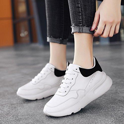 Petit Black Taille Printemps Forme Hwf Épais Blanc Femmes Chaussures dPqPS
