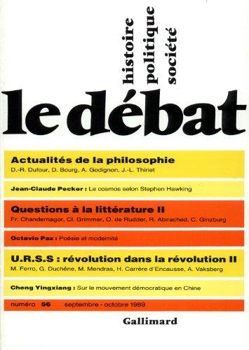Le Débat, numéro 56, septembre-octobre 1989 par Collectif