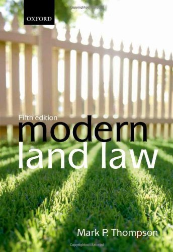 Modern Land Law by Thompson, Mark P. (2012) Paperback