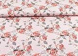 Toller Baumwoll Jersey Stoff Floral gemustert mit großen