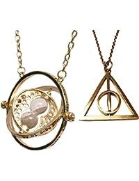 Harry Potter:Giratiempo de Hermione - Collar giratorio con reloj de arena