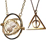 Harry Potter: Hermione Time Turner Rotating Necklace with Hourglass
