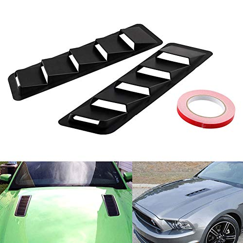 BONNIO Hood Scoop Universal Fitment Air Flow Intake Auto Cold Airs Vent Cover Car Louver Kühlpanel (Air-flow-haube)