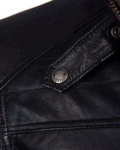 Mustang Leather Herren Jacke MU-M14-Diego Echtleder Black