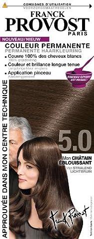 Franck Provost - Couleur Permanente Châtain Éblouissant 5.0 + Pinceau