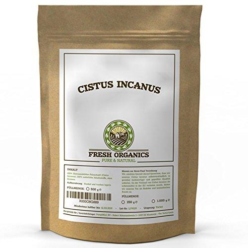CISTUS INCANUS | 500g ZISTUSKRAUT | ZISTROSENBLÄTTER reich an Polyphenolen | Premium-Qualität im wiederverschließbaren Frischebeutel