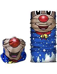 Rudolph diseño de máscara–máscara de esquí, calentador de cuello cabeza bufanda–RUFFNEK® Multifuncional Bufanda/Snood–talla única para los hombres, las mujeres y los niños