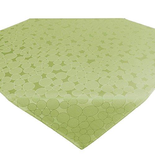 Tischdecke Mitteldecke ROM / Kreis-Muster / 85x85 cm / grün