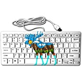 Abstract Moose 78 Keys Wired USB Mini Slim Keyboard For Pc Computer Laptop