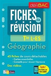 """Afficher """"Fiches de révision : Géographie Tle L-ES"""""""