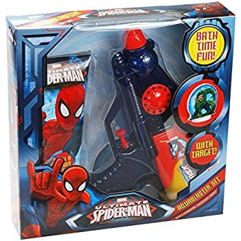 This Item Marvel Ultimate Spiderman Aquablaster Gift Set   Bath Time Fun