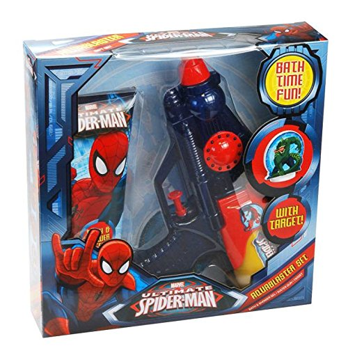 Image of Marvel Ultimate Spiderman Aquablaster Gift Set - Bath Time Fun