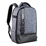 K&F Concept Camera Backpack, Professional Large Capacity Waterproof Photography Bag for DSLR Cameras,15""