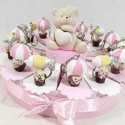 Sindy, recordatorio en forma de tarta para nacimiento, bautizo, niño o niña, a elegir