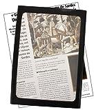Wellys R 087591 Standlupe Vergrößerung, 23 x 16.5 cm, 3-fach, schwarz