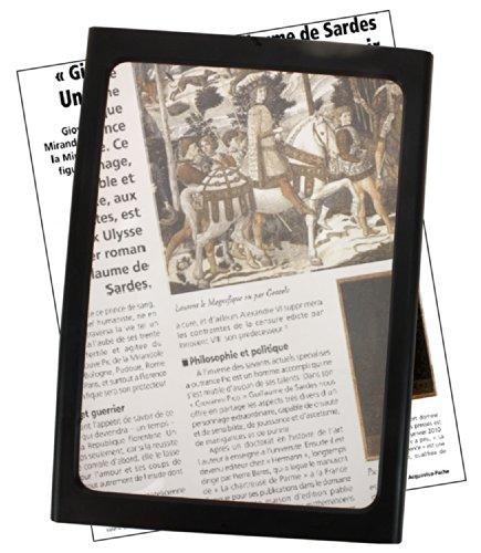 da tavolo o da sospendere al collo Comforteo X3 Lente dingrandimento per pagina intera con piedini