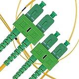 Cavo Fibra Ottica SC a SC 1M Monomodale Duplex - APC/APC - 9/125um OS1 (LSZH) - Giallo - Beyondtech Cavo di Fibre Ottiche Singolo – Serie Single Mode PureOptics