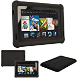 "TECHGEAR® Bumper Case for Amazon Kindle Fire HD 7"" (3rd Gen/2013 edition) Rugged Duty Anti-Shock Protective Case with Added Corner & Edge Protection and Easy Grip Design [BLACK] - Kids & School Friendly Case - NOT FOR THE ALL-NEW AMAZON FIRE HD7!"