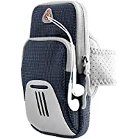 Monico Running Armband Phone Holder Bag, Universal Sports Fitness Armband for iPhone 11 Pro Max XR XS 8 7 Plus, Samsung S20 Ultra S20+ S10+ S9+ Note 20 Ultra Note 10+ - Running Workout (Navy)