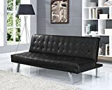 3 Seater Designer Sofa Bed Faux Leather in 5 Stunning Colours (Black)