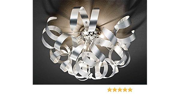 Deckenleuchte deckenlampe wohnzimmerlampe curly iii aluminum