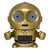 BulbBotz Despertador Infantil C3PO, Dorado, 8.89x12.7x13.97 cm, 2021418