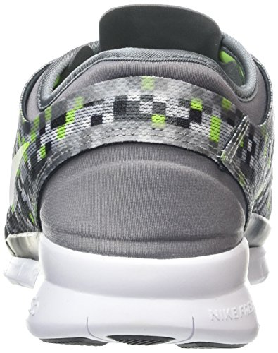 Nike Free 5.0 Tr Fit 5 Print, Chaussures de Fitness Femme Gris frais / Volt / Noir