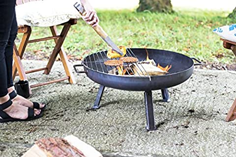 Oxford Barbecues - 56246 – Small 60cm Diameter Industrial Firepit with Grill