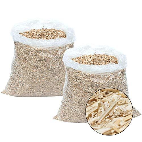 Jumbogras® Rindenmulch-Alternative: Garten-Mulch aus Miscanthus/Chinagras/Elefantengras-Häcksel für Pflegeleichte Gärten/Gartengestaltung/Gartenpflege (70x2-Liter-Säcke) -