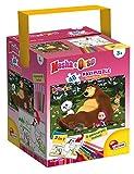 Lisciani Giochi 48465 - Masha e Orso On The Grass Puzzle con Color Fustino Maxi, 48 Pezzi
