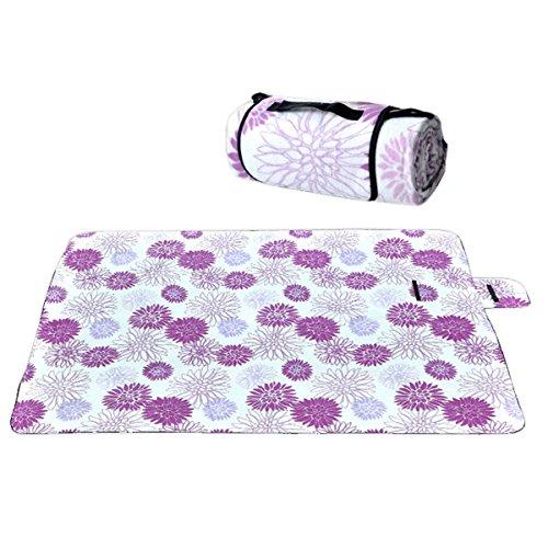Durable Imperméable Sandproof Tapis De Pique-nique Fleurs Pliable Camping Couverture De Pique-nique Tapis De Plage,05 01