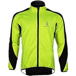 WOLFBIKE de polar Chaqueta de ciclismo Jersey manga larga de invierno Deportes al aire libre a prueba de viento del viento Ciclo de bicicletas Escudo ropa del desgaste de L