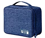 House of Quirk Electronics Accessories Organizer Bag, Universal Carry Travel Gadget Bag