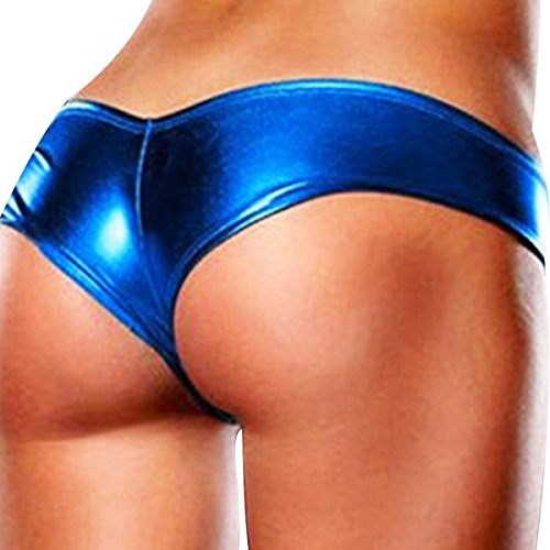 Triangle Pants JLTPH Womens Sexy Leather Lingerie Hot G-String Panties Shiny Mini Shorts 9