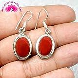 Red Jasper Earring Crystal / Stone Oval Shape Earring for Reiki Healing and Vastu, Meditation, Protection, Energizer, Grounder