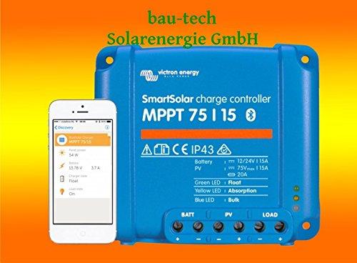 Victron Smartsolar MPPT Laderegler 75/15 15Amper 12V oder 24V inklusiv Bluetooth von bau-tech Solarenergie GmbH 15