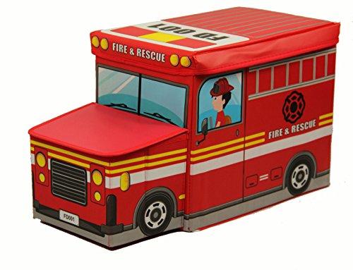#Spielzeugbox, Spielzeugkiste in 4 verschiedene Designs (Feuerwehr)#