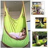 FEMOR Hamaca de Jardín Exterior Hamaca para Familia Interior Hamaca para Camping al Aire Libre Diseño de Rana de Algodón Color Verde y Marrón