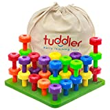 Tuddler Paquete Educativo Pegs Incluye un Set de Clavijas Apilables de...