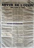 Telecharger Livres REVUE DE L OUEST No 33 du 17 03 1853 JOURNAL POLITIQUE ET D ANNONCES (PDF,EPUB,MOBI) gratuits en Francaise