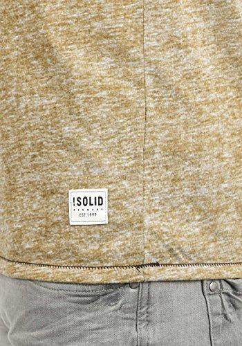 !Solid Telias Herren Longsleeve Basic Langarm-Shirt mit Grandad-Ausschnitt Aus Hochwertiger Baumwollmischung Meliert Cinnamon (5056)