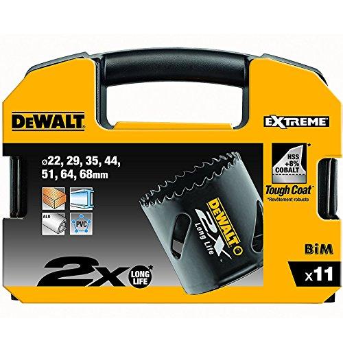 DeWALT Original Extreme 2X Lochsägen Set Elektriker, 11teilig, DT8273L-QZ