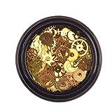 1 scatola del cambio Nail Stickers Vintage monili misti di colore del metallo Steampunk che fanno i fascini Cog Guarda Wheel