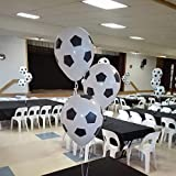 #7: AMFIN® (Pack of 50) Soccer / FootBall Balloon White Color Kids Toys Football Balloons Party Supplies