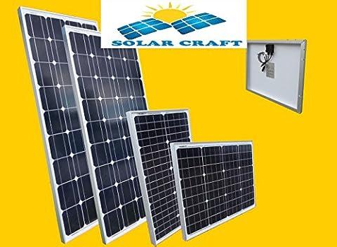 4x50 Watt 12V Polycristallin module solaire photovoltaïque jardin Camping
