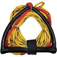 Jranter Water - Cuerda de esquí con Mango de Radio y empuñadura EVA, Color Amarillo y Negro, Unisex Adulto, Amarillo, 60 Feet